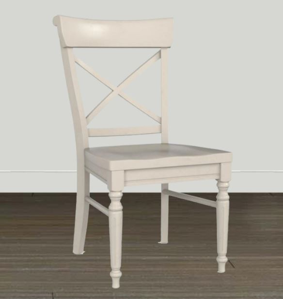 White X Back Dining Chair