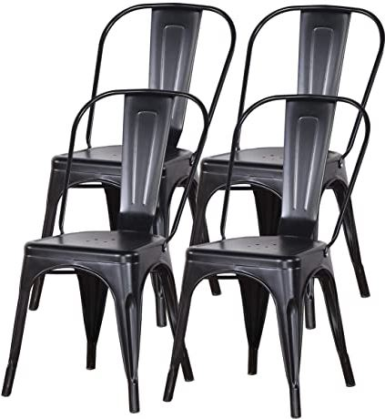 Industrial Metal Dining Room Chairs