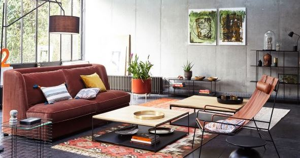 Rust Colored Living Room Furniture