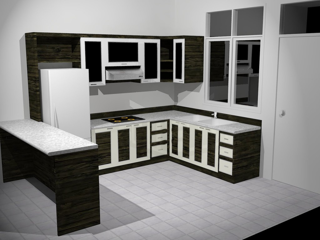 Black and white kitchen cabinets - Black red and white kitchen designs ...