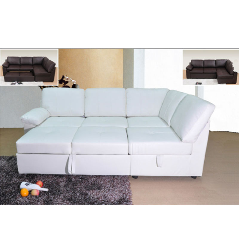 Argos Corner Sofa Bed Collection Fernando Leather Eff Left