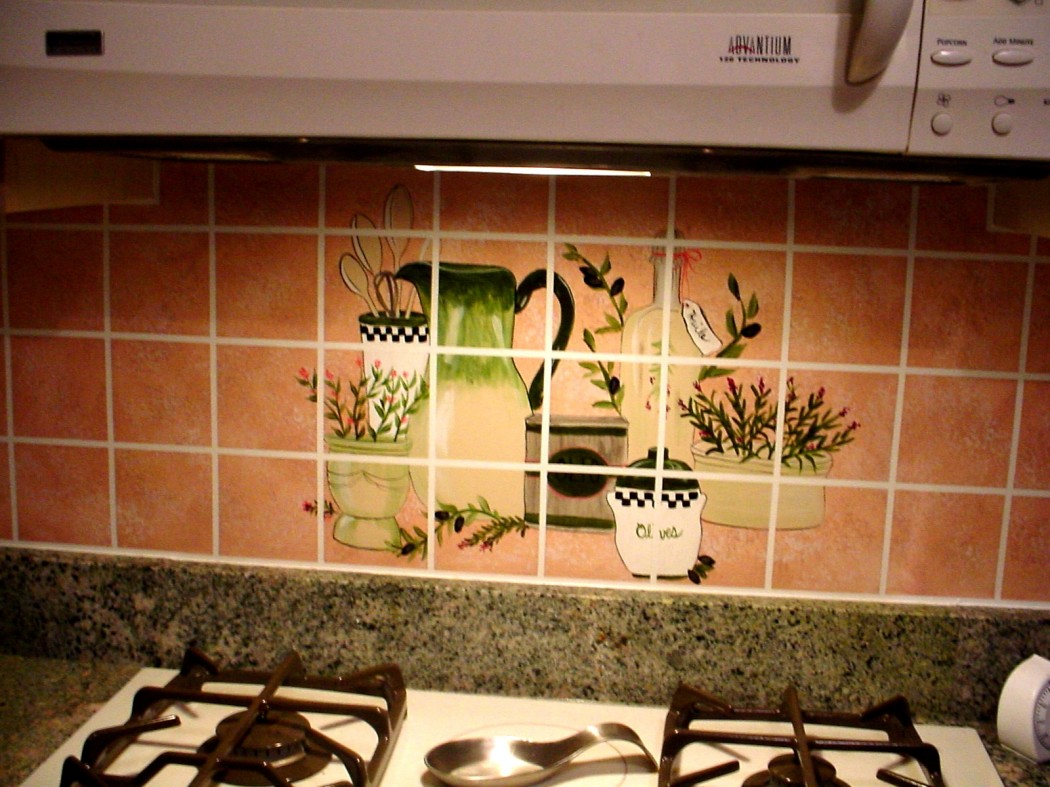 Tile backsplash murals