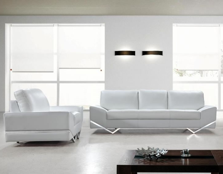 White Leather Sofa 13