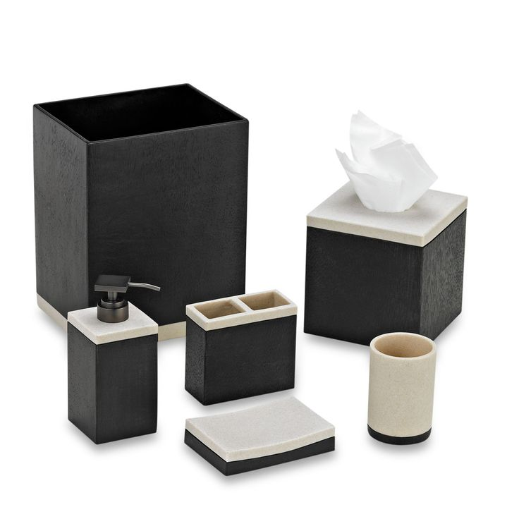 Black bathroom accessories for Black and white bath accessories