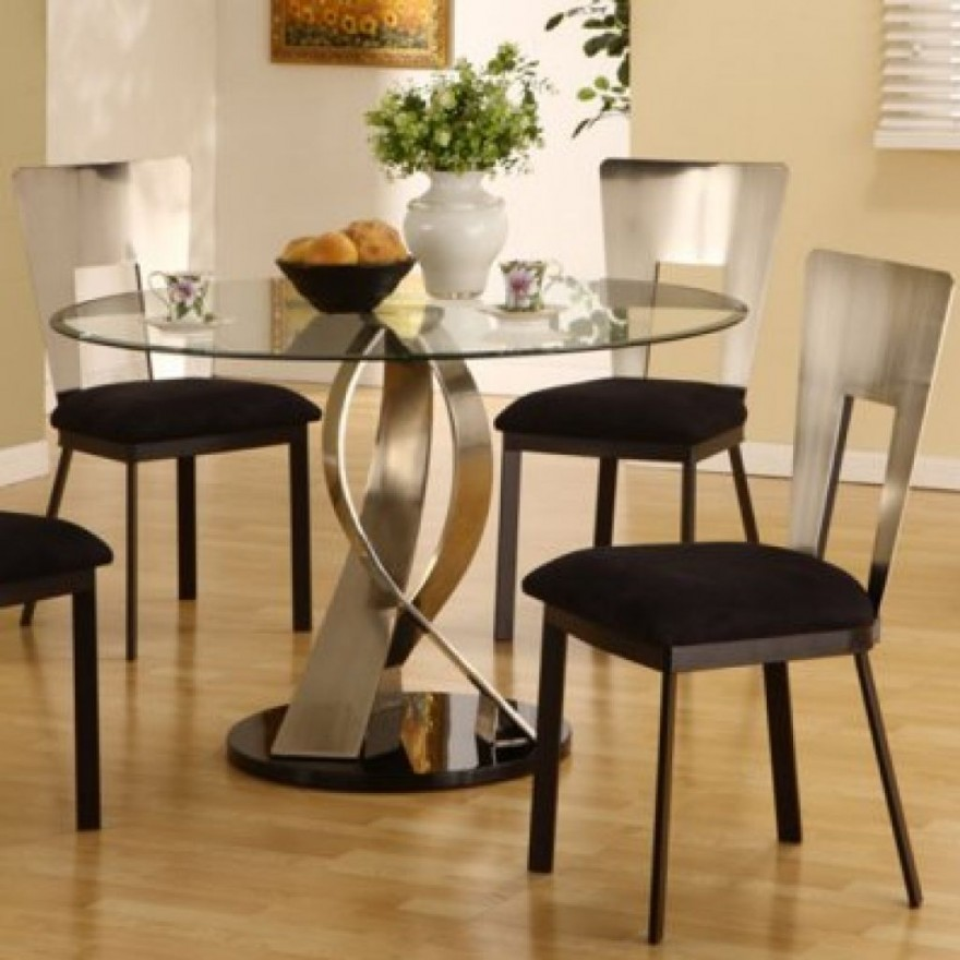 Black Glass Kitchen Table And Chairs