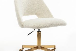White and Gold Office Chair